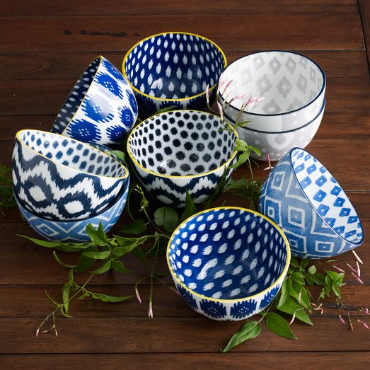 I love all of these colorful Ikat bowls from West Elm! All of them are only $8 each!