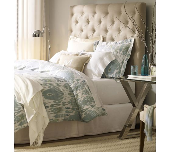 If you really want to focus on Ikat in your room here is the Vivian Ikat Duvet Cover and Shams from Pottery Barn! Ranging from $38-$169