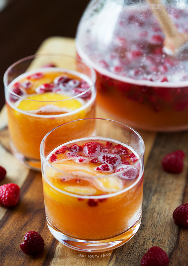 RASPBERRY PEACH PROSECCO
