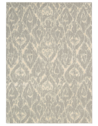 Here is a great, and really neutral, Ikat rug from Wayfair.com. Its the Nourison Nepal Quartz Rug ranging in sizes and prices