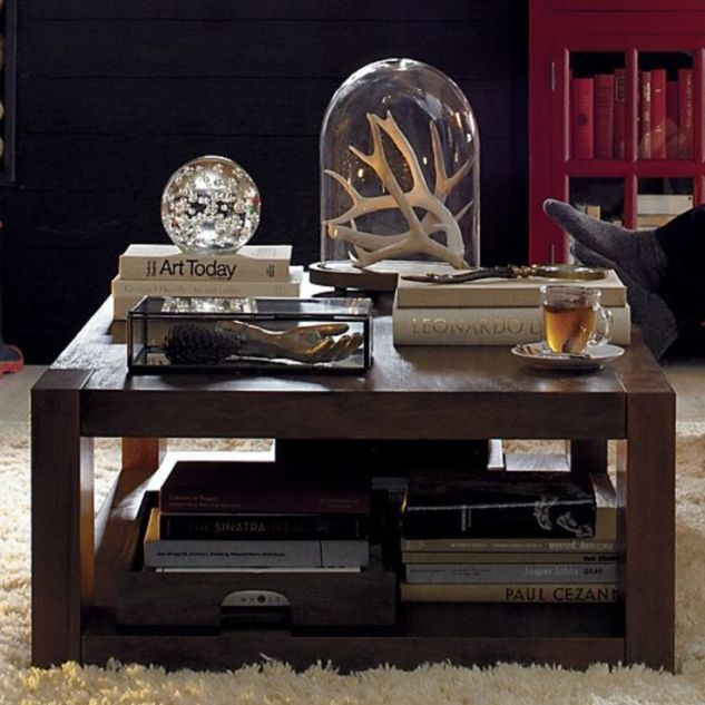 Sturdy and solid. And I just love the way this coffee table is styled!