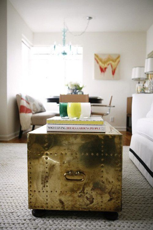 a great way to add a touch of metallic to any living space