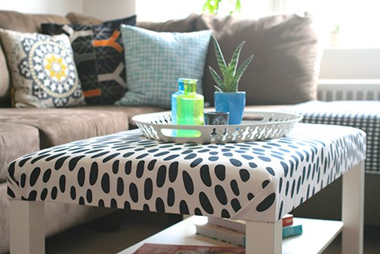 Upholstered coffee table. Perfect for those casual living spaces where you can put your feet up!
