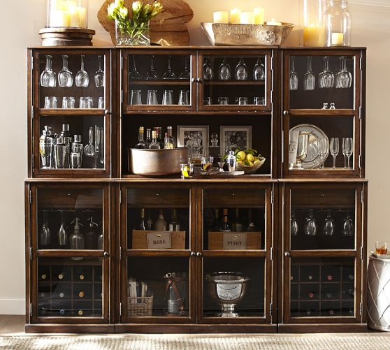 If you have a larger space I love the Saxton Entertaining Bar Suite from Pottery Barn for $3499 (*currently on sale*)