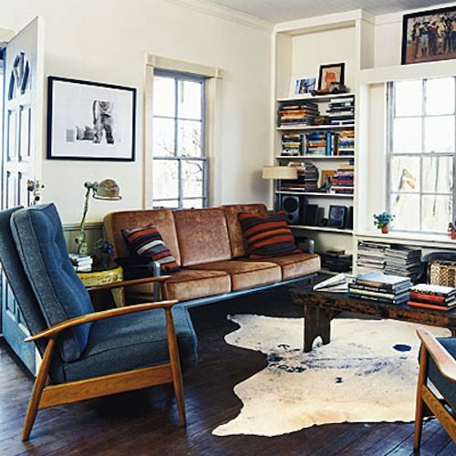 I want the focus of the room to be a gorgeous leather couch.
