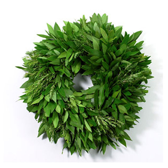 This is a gorgeous Bay Leaf Wreath with Rosemary by McFadden Farms via Etsy! Priced only at $34!