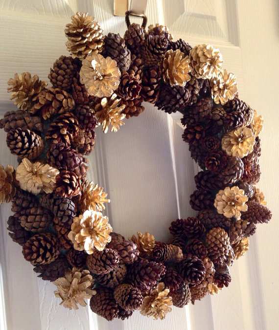 Pinecone Wreath by Bella Vella Designs via Etsy! For only $40!