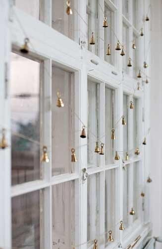 I love these tiny bells! Hang them on your door and hear a festive jingle every time you open or close it!