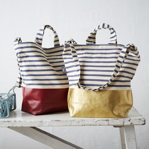 The Striped Baggu Dipped Tote for only $45!