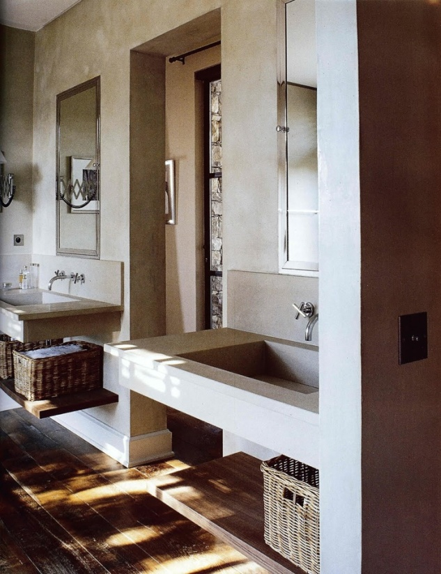 I love that these two sinks are far apart enough to give a separate space for each person to have as their own!
