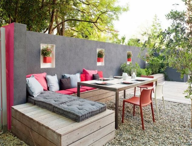 Depending on what kind of gravel you get it really can give your patio a whole new look!