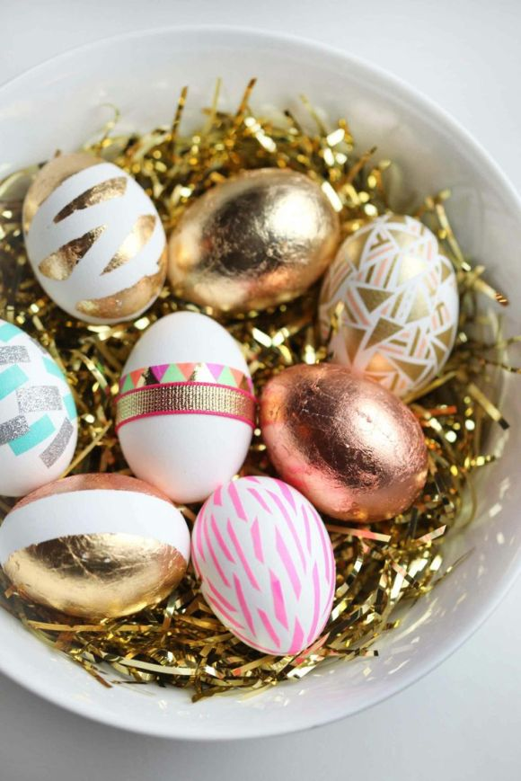 I love these metallic eggs!