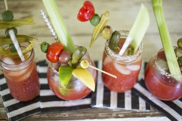 Enjoy your Bloody Mary! These are the perfect drink for any brunch. Even setting up a Bloody Mary bar for all your guests is such a fun party DIY.