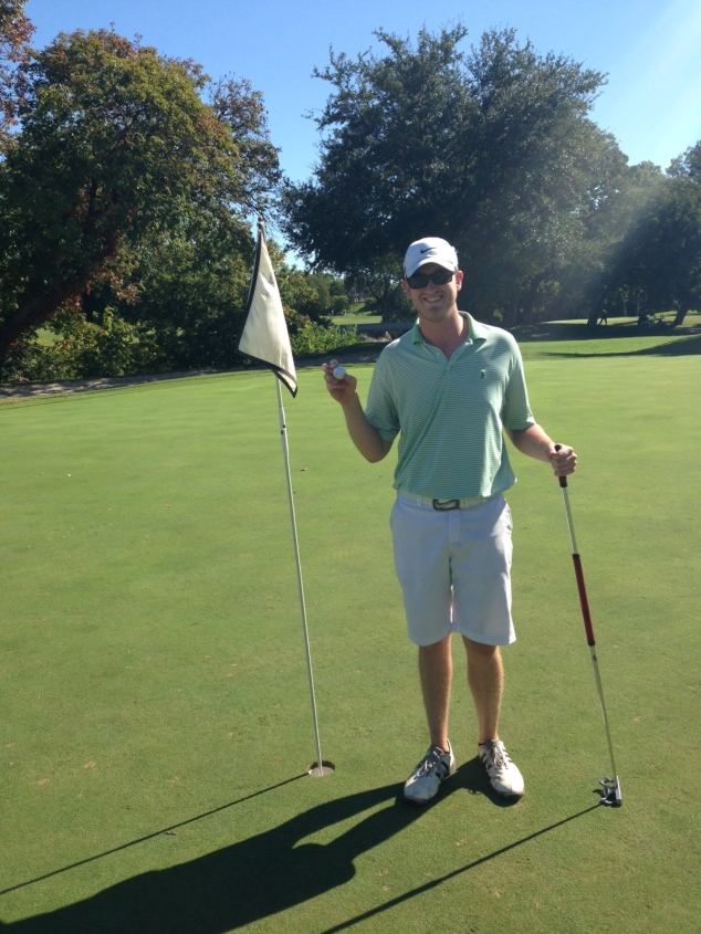 Thank you for letting me share in your accomplishments! His first hole-in-one!