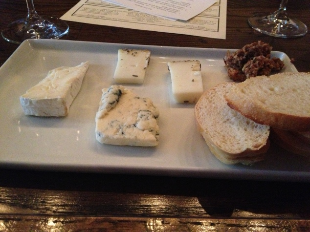 Their plates are small, but the quality is amazing! And that honey almond crunch they serve with their cheese plates is AMAZING with blue cheese!