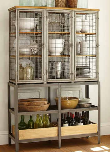 This is the Gridley Caged Storage Cabinet from Pottery Barn for $1,399