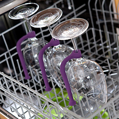 Now these are definitely great accessories I need to invest in because I can't even tell you how many wine glasses I have broke in our dishwasher! Here are the Quirky Tether Stemware Protectors available at Home Depot for $9.99 each!