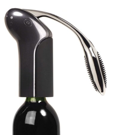 I am obsessed with my Metrokane Vertical Rabbit Corkscrew! You can't enjoy your wine if you can't get it open... and this makes that process beyond easy! David still prefers a wine key, but I just love the ease with this tool! Its available on Amazing for only $39.99
