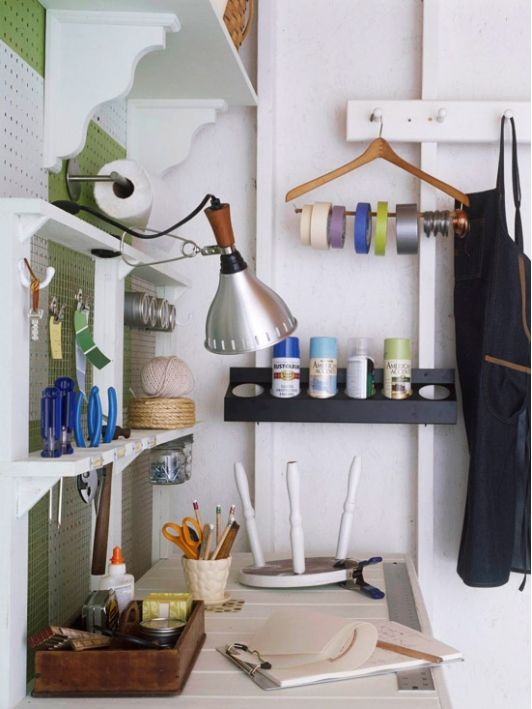 I love the idea of having a work station in the garage! A perfect place for future DIY posts!