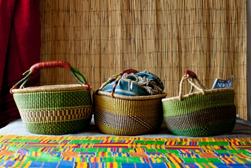This is the amazing Bolga Market Basket made in the Bolgatanga region of Ghana. They sell for $42 a piece.