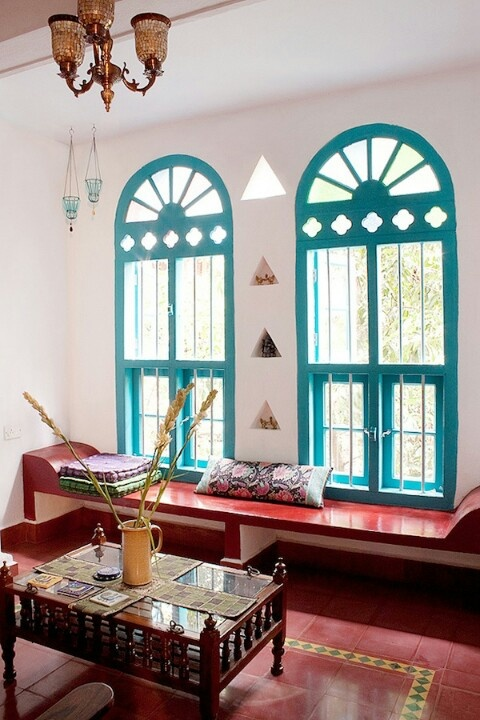 This works so well if you have great ornate windows like these!