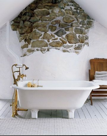 Hello gorgeous exposed stone!