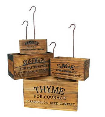These amazing Vintage Style Nesting Herb Crates come in a set of four for only $39.95!