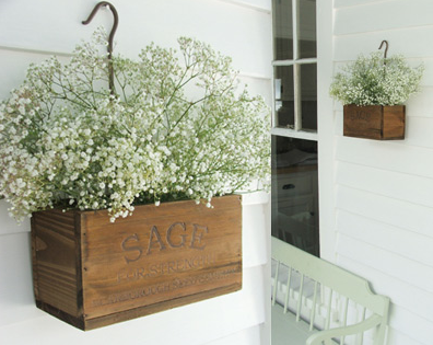 How amazing! They can be used as planter boxes, or even in your laundry room or kitchen to store odds and ends!