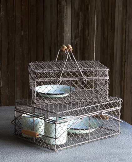 Wire Lunch Box Basket Set of Two for only $34.95. I love these for kitchen or pantry storage!