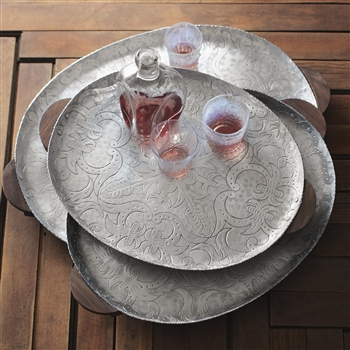 I also love these Granada Oval Trays with wooden handles perfect for entertaining! Varying sizes have varying prices.