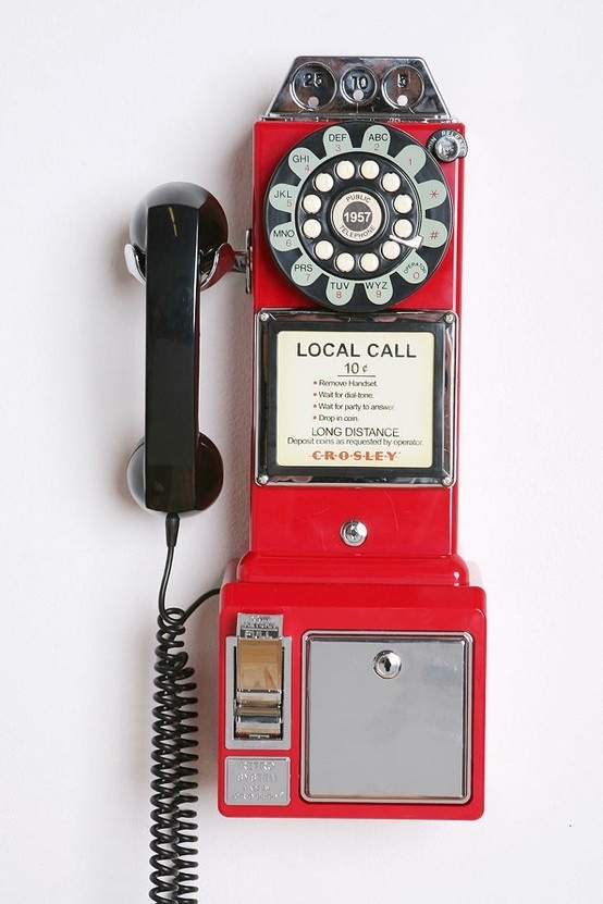 Hello gorgeous vintage phone bank! This is the Retro Phone and Bank from Montgomery Ward for only $99