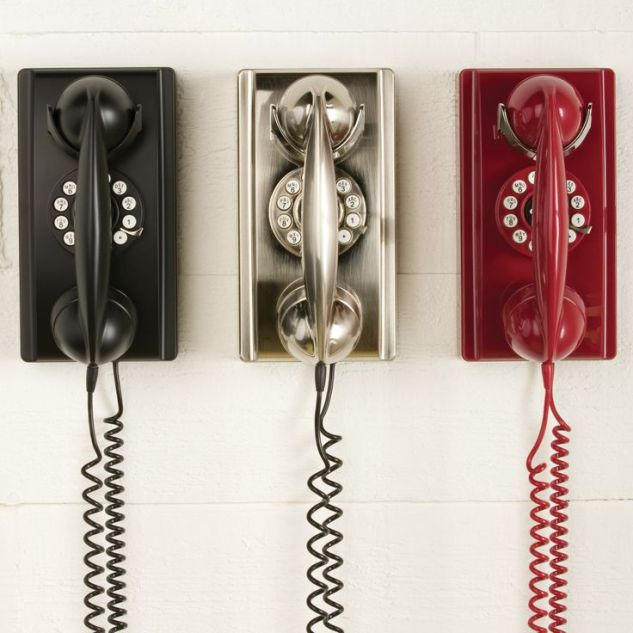 I LOVE This silver phone! This is the 302 Wall Phone from Home Decorators for only $79