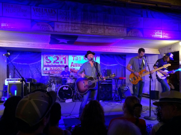 Wade Bowen playing at Gruene Hall