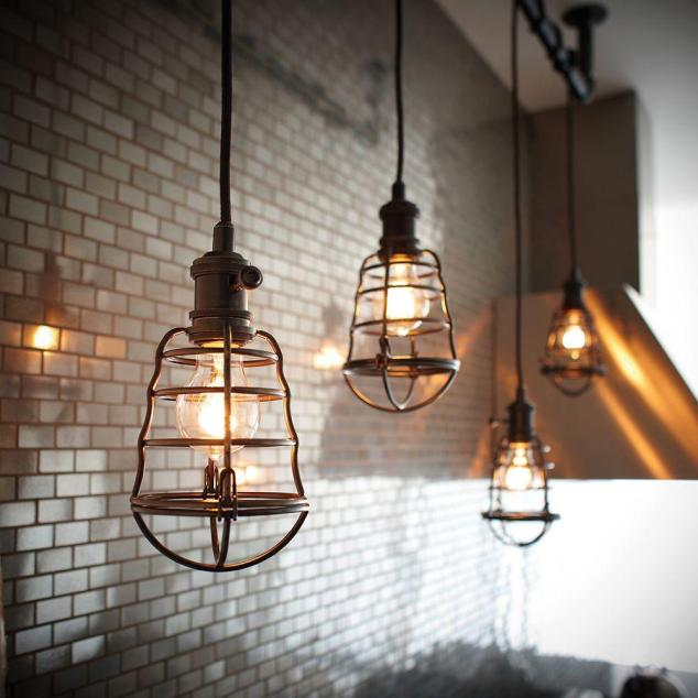 These beauties are also from Home Depot. These are the Home Decorators Collection Light Aged Bronze Caged Pendant for only $69.97