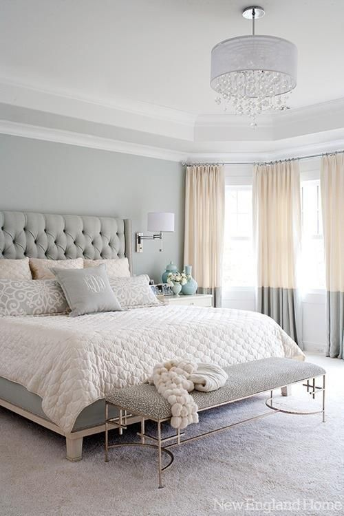 I love these curtains! Color blocking doesn't have to be bright colors, it can be neutrals!