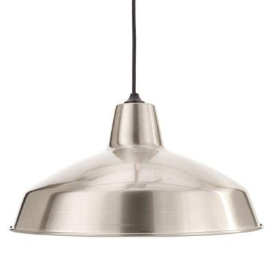 This is the Hampton Bay Light Brushed Nickel Warehouse Pendant for only $29.88. From our favorite place... Home Depot!!