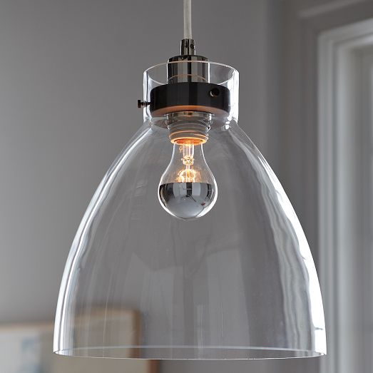 West Elm is my go to store for lighting! I always love there looks. This is their Industrial Glass Pendant for only $99
