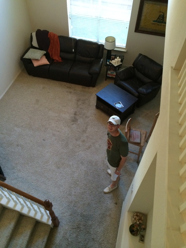 Before the carpet was taken out... it might not look like much but man that carpet was soaked!
