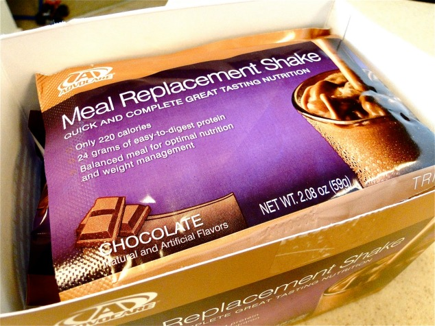 Advocare Meal Replacement Shakes (my favorite is the Mocha Chocolate (these are just the chocolate ones!) I take a long time to get ready in the morning so I don't have time to cook a balanced breakfast, these give you the perfect balance of protein and carbs! A great way to start your day!