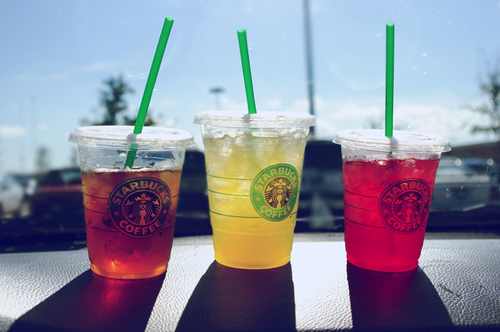Starbucks iced teas! You're not suppose to have any caffeine or alcohol on the cleanse, but I do allow myself to have iced green teas!