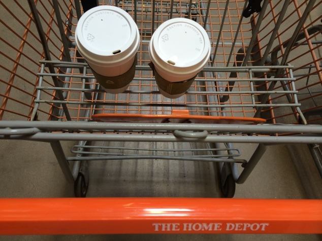 A typical Sunday in the Stephenson household. Starbucks and Home Depot.