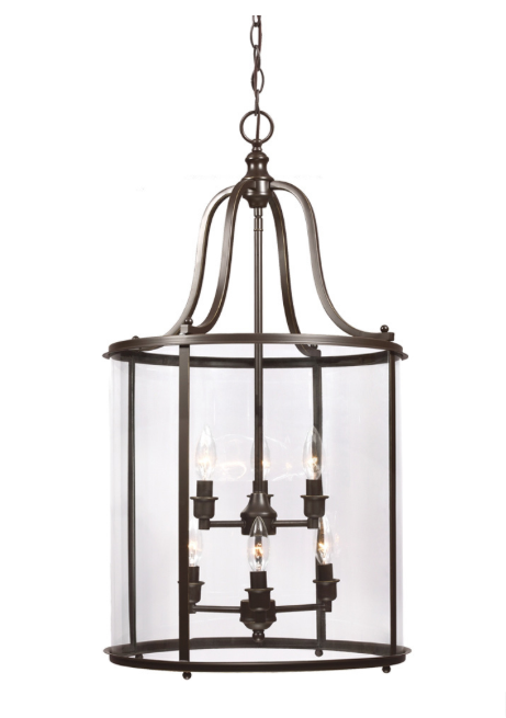 Gillmore 6-light Clear Glass Shade Lantern from Overstock.com