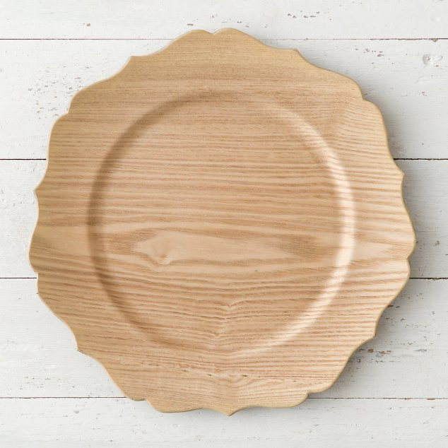 DECORATIVE WOODEN CHARGER for only $20