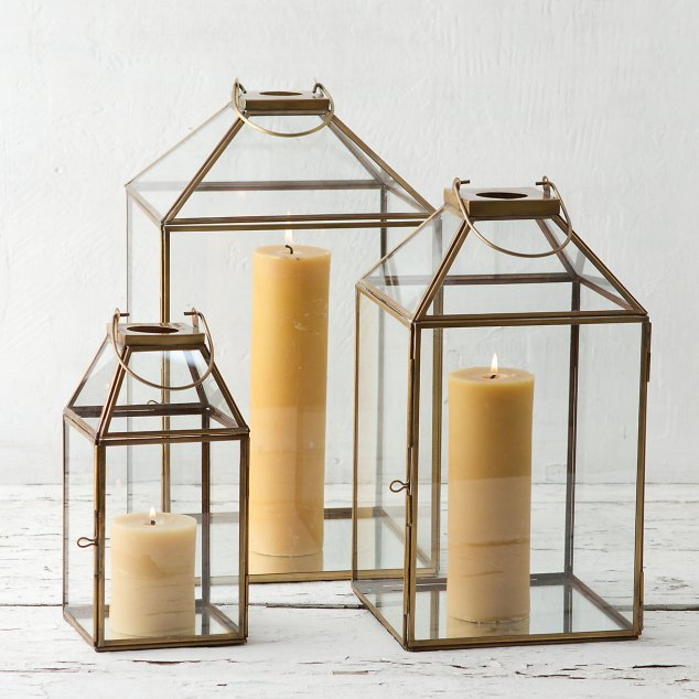 These BRASS FRAME LANTERNS range from $36-$98