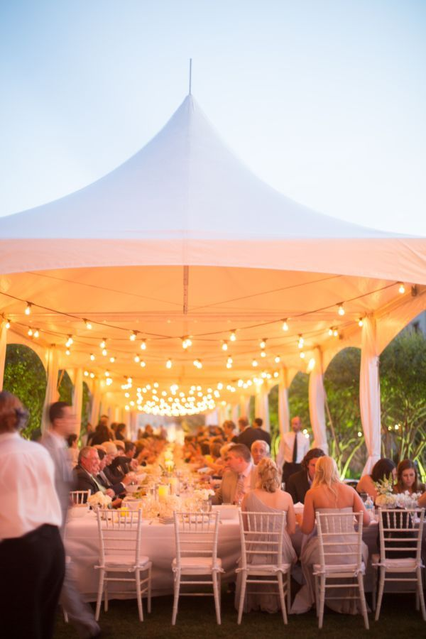 I love this tent covering one big long table!