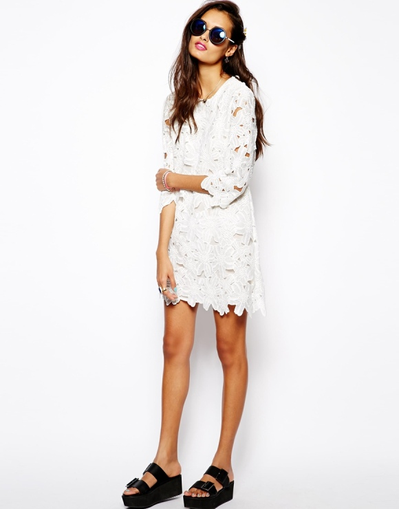 Native Rose LACE CUTOUT dress from ASOS on sale right now for $55.22