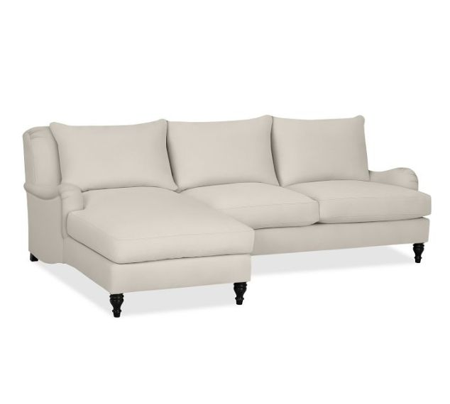 The CARLISLE UPHOLSTERED Sectional with Chaise from Potterybarn, in Twill Cream for $2939