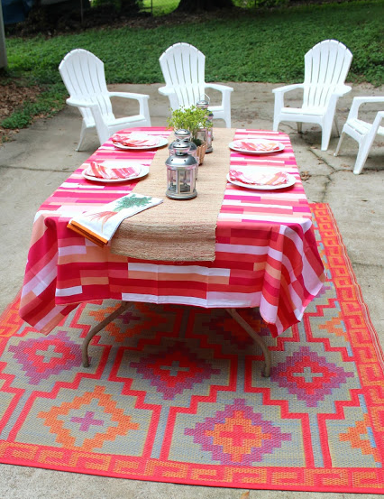We love this rug so much it is on its way to our home to  help spruce up our breakfast nook!