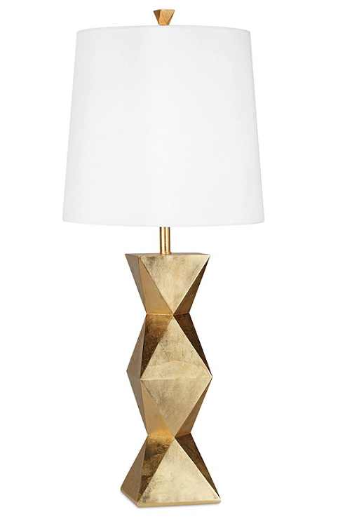 A just LOVE this bedside lamp, a touch of gold makes every room complete in my book! This is the PACIFIC COAST LAMP from Macy's on sale right now for $139.99