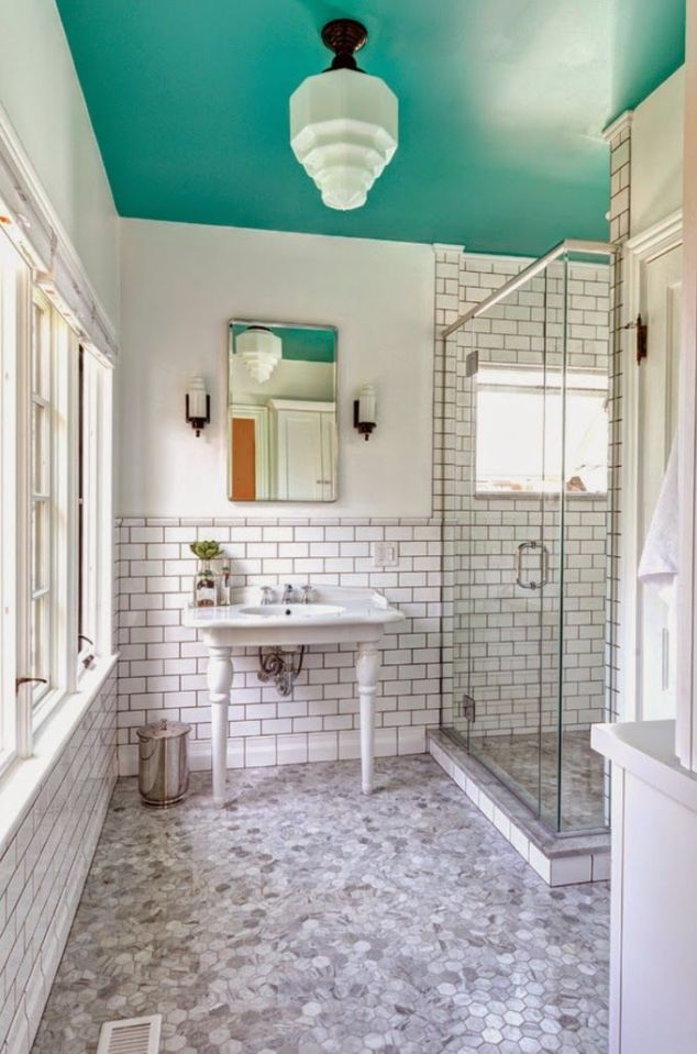 What a fun pop of color for your bathroom!